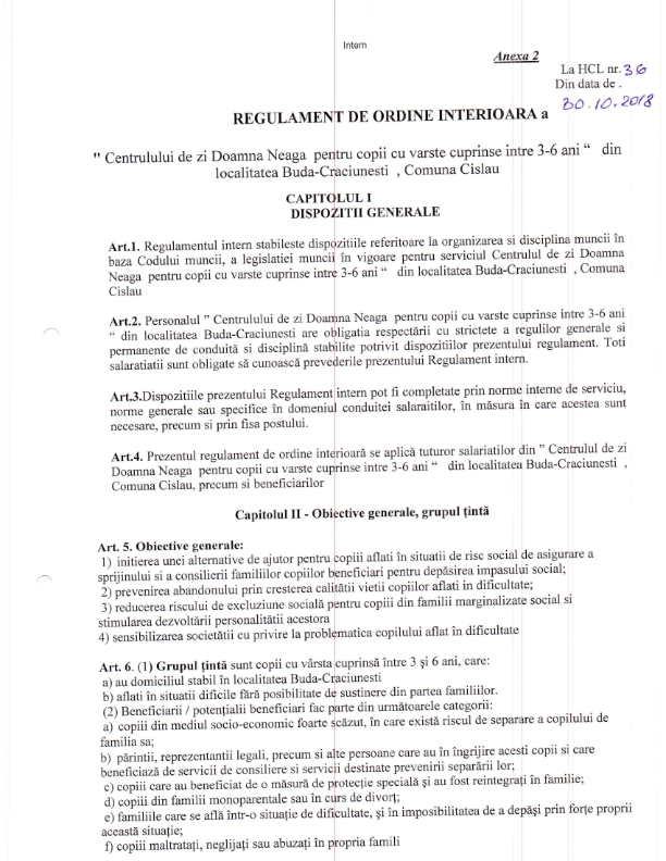 regulament doamna neaga octombrie 008