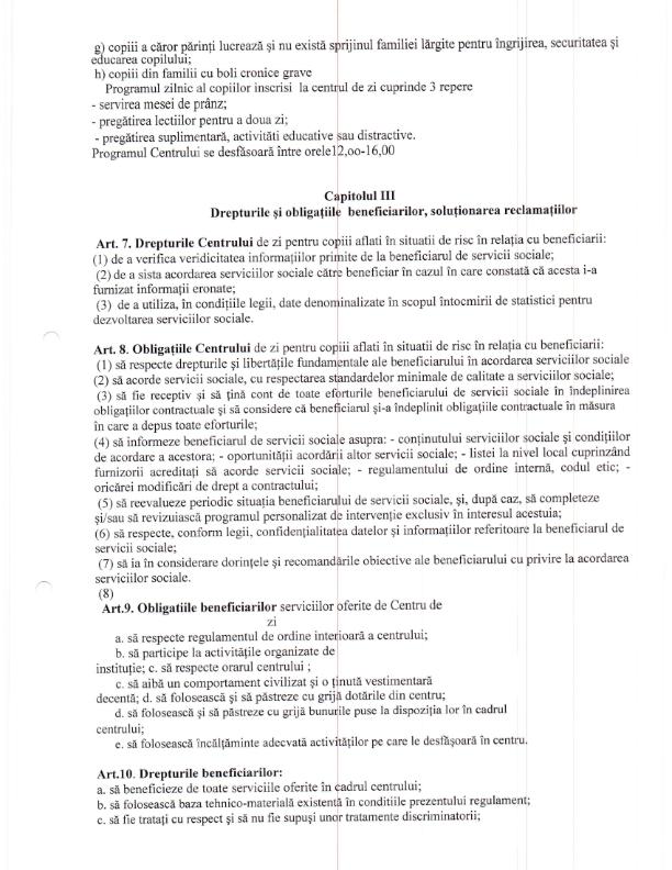 regulament doamna neaga octombrie 009