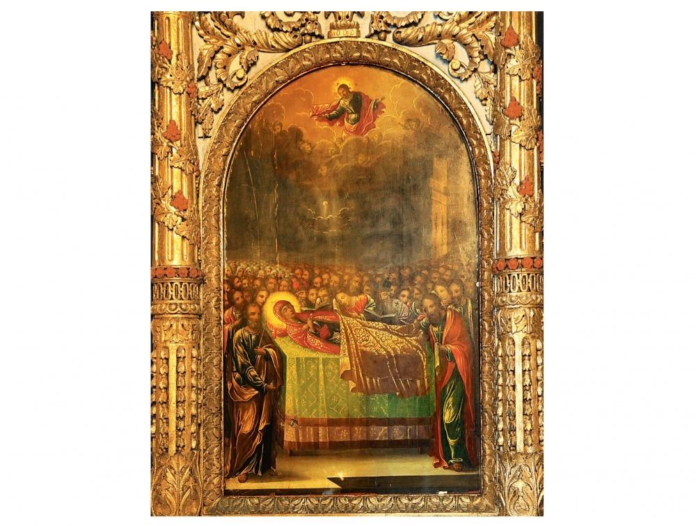 Adormirea Maicii Domnului – icoana de hram a vechii Catedrale arhiepiscopale din Buzău