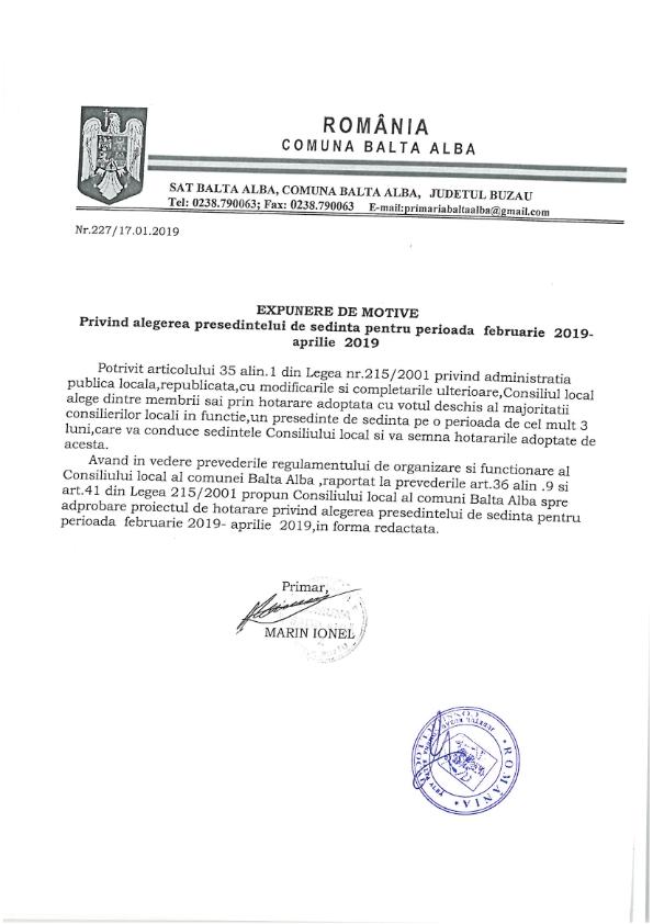Hotarare 2privind alegerea presedintelui de sedinta pe perioada februarie 2019 aprilie 2019 003