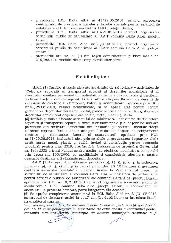 Hotarare Nr 80 din 20 12 2018 privind implementarea unor obligatii si angajamente referitoare la gestionarea deseurilor 002