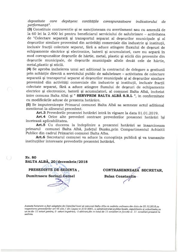 Hotarare Nr 80 din 20 12 2018 privind implementarea unor obligatii si angajamente referitoare la gestionarea deseurilor 003