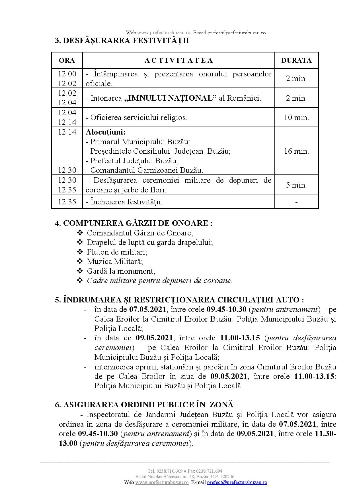 program festivitati 9 Mai